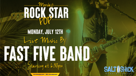 Monday July 12th with Fast Five Band 6:30 PM