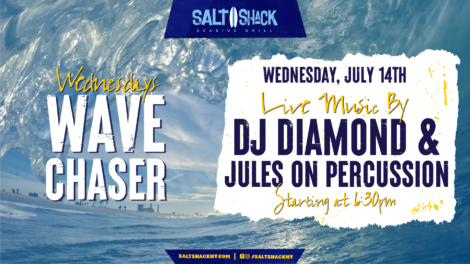 Wednesday July 14th with DJ Diamond & Jules on Percussion  6:30 PM
