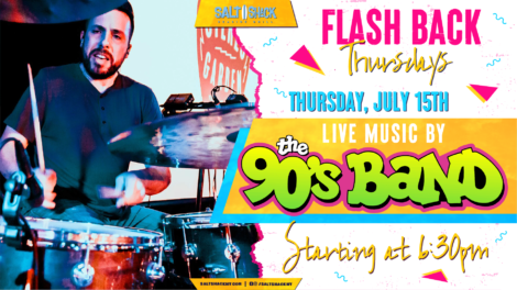 Thursday July 15th with The 90's Band 6:30 PM