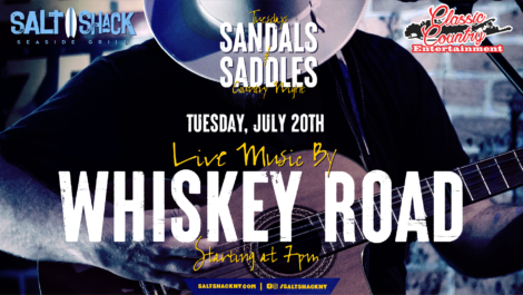 Tuesday July 20th with Whsikey Road 7:00 PM