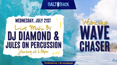 Wednesday July 2st with DJ Diamond & Jules on Percussion 6:30 PM