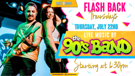 Thursday July 22nd with The 90's Band 6:30 PM