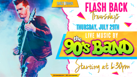 Thursday July 29th with The 90's Band 6:30 PM