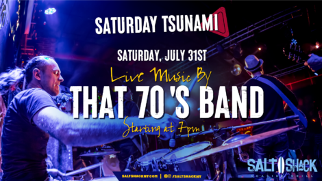Saturday July 31st with That 70's Band at 7:00 PM