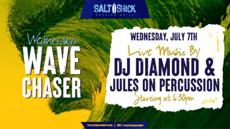 Wednesday July 7th with DJ Diamond & Jules on Percussion 6:30 PM