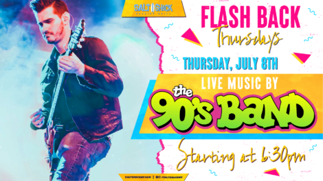 Thursday July 8th with The 90's Band 6:30 PM